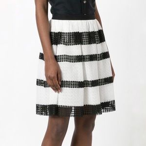 Michael Kors Striped Lace Full Skirt Size 14